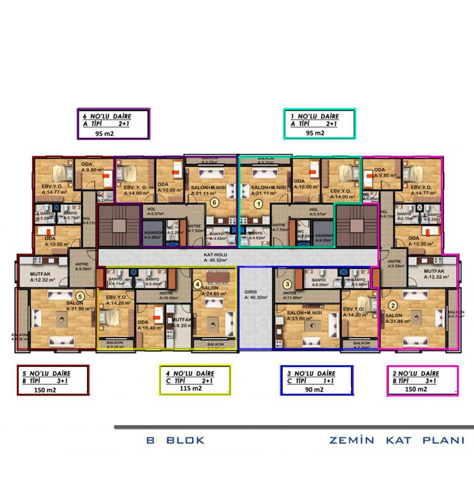 AKS FOCUS 3+1 Kat Planları