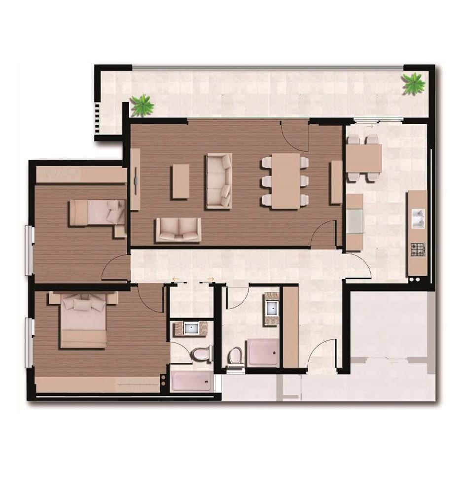 Arkadya Evleri 2+1 Kat Planları