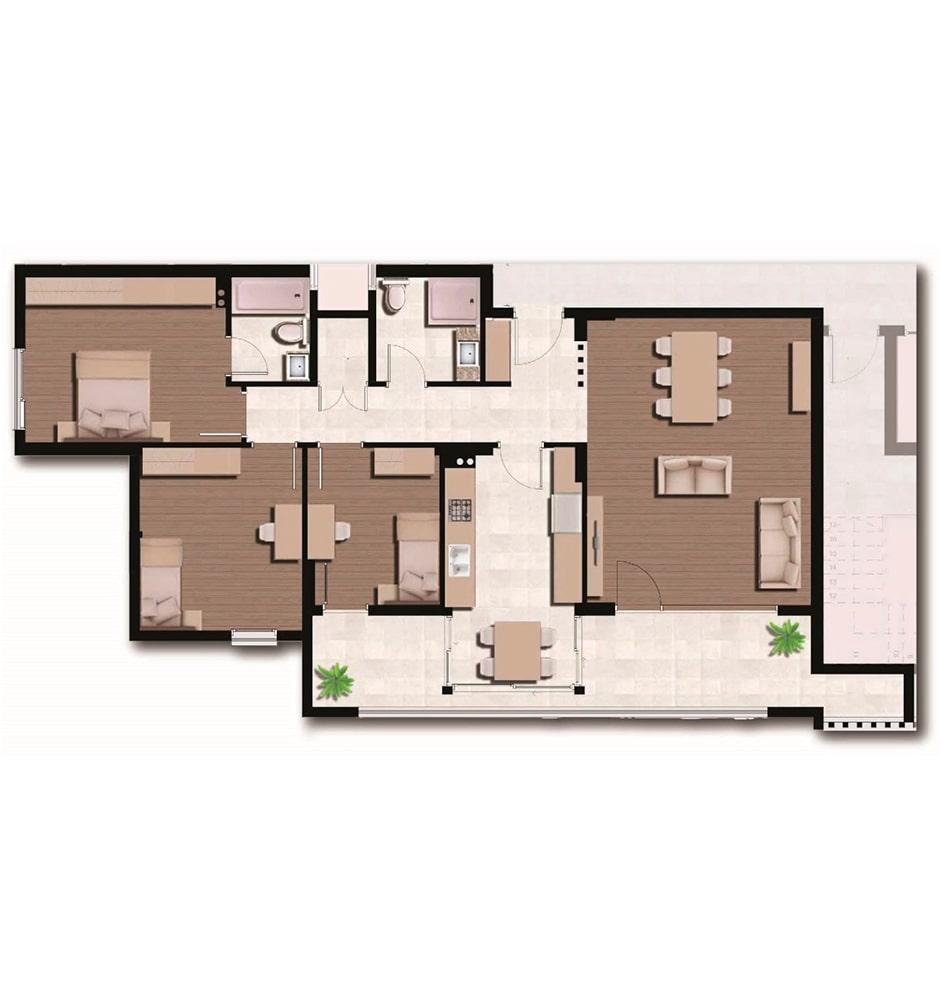 Arkadya Evleri 3+1 Kat Planları