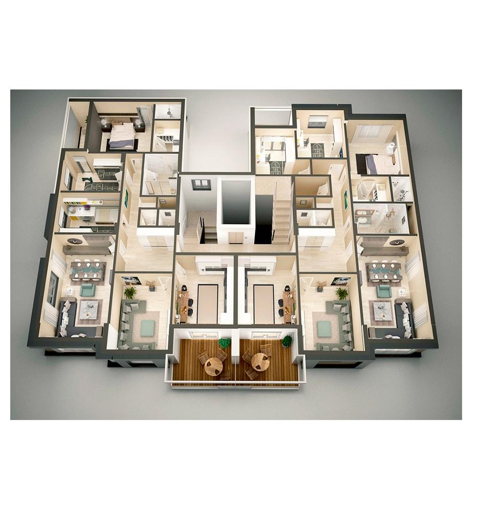 AsyaLife Residence 4+1 Kat Planları