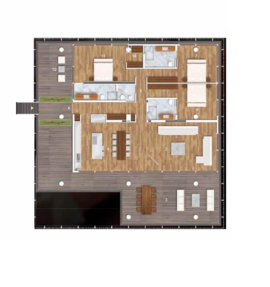 Barbaros Reserve Residences 5+1 Kat Planları