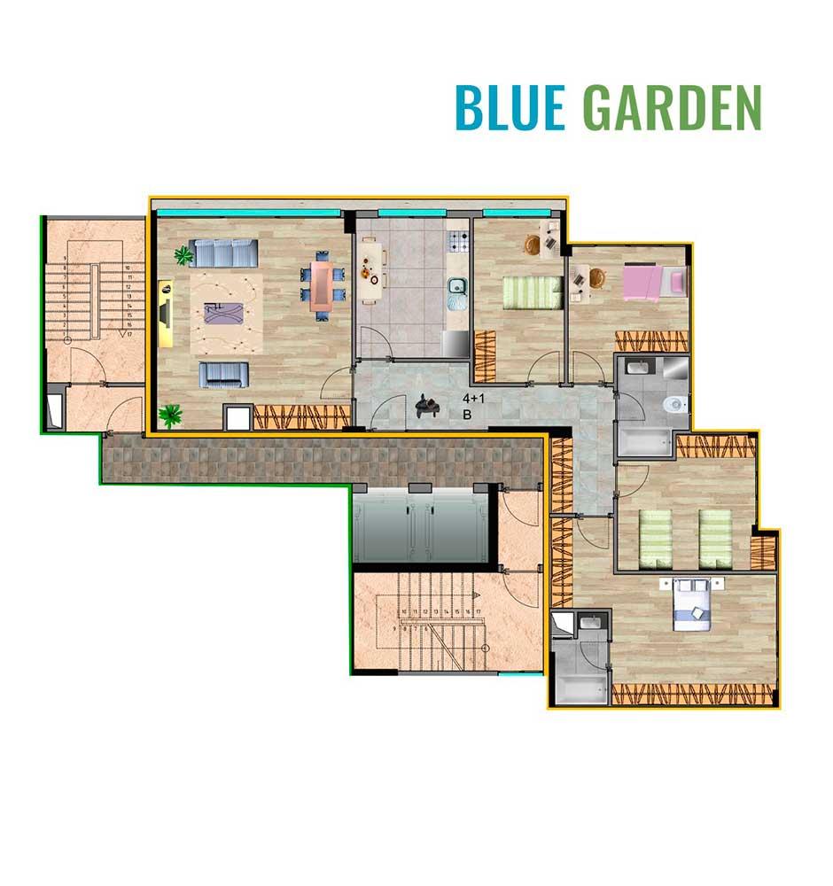 Blue Garden Küçükçekmece 4+1 Kat Planları