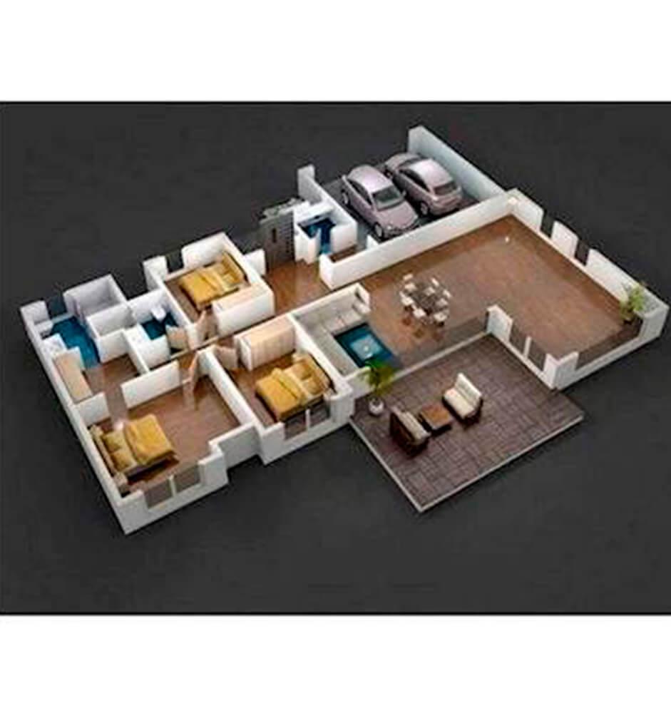 Casa Lusso Lalin Evleri 3+1 Kat Planları