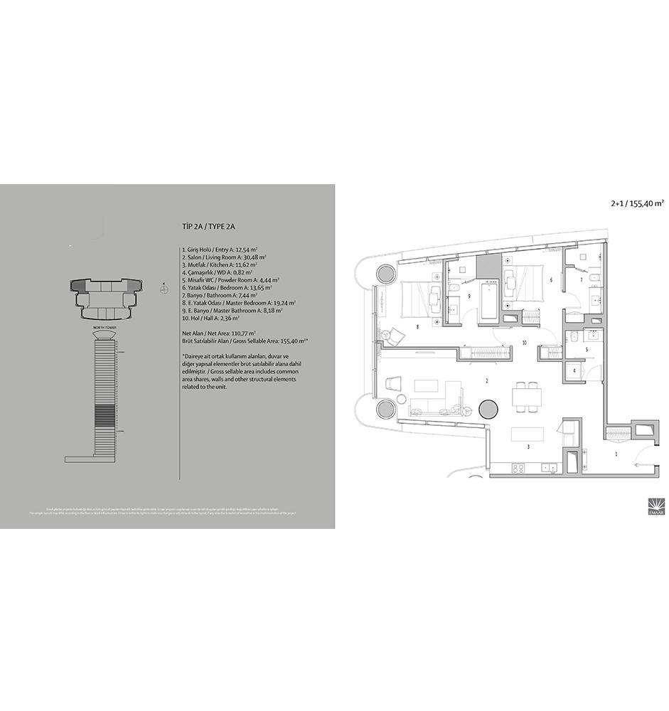 Emaar Square 2+1 Kat Planları