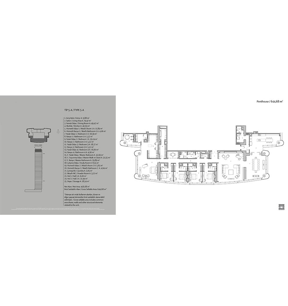Emaar Square 5+1 Kat Planları