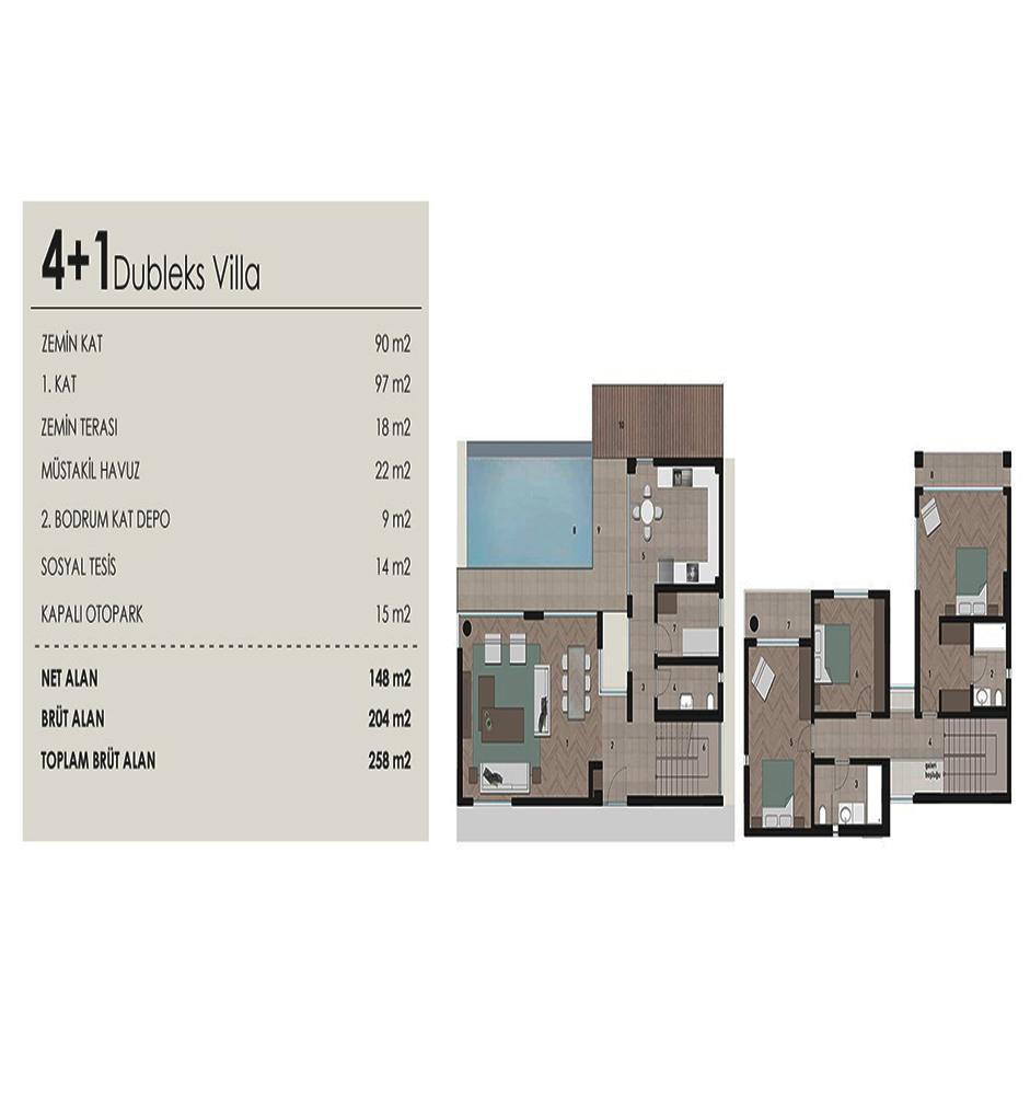 Haus Infinity 14 4+1 Kat Planları