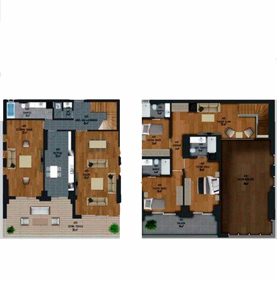 Malatyalife Residence  4+2 Kat Planları