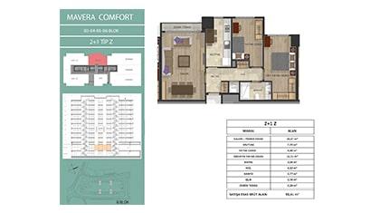 Mavera Comfort 2+1 Kat Planları