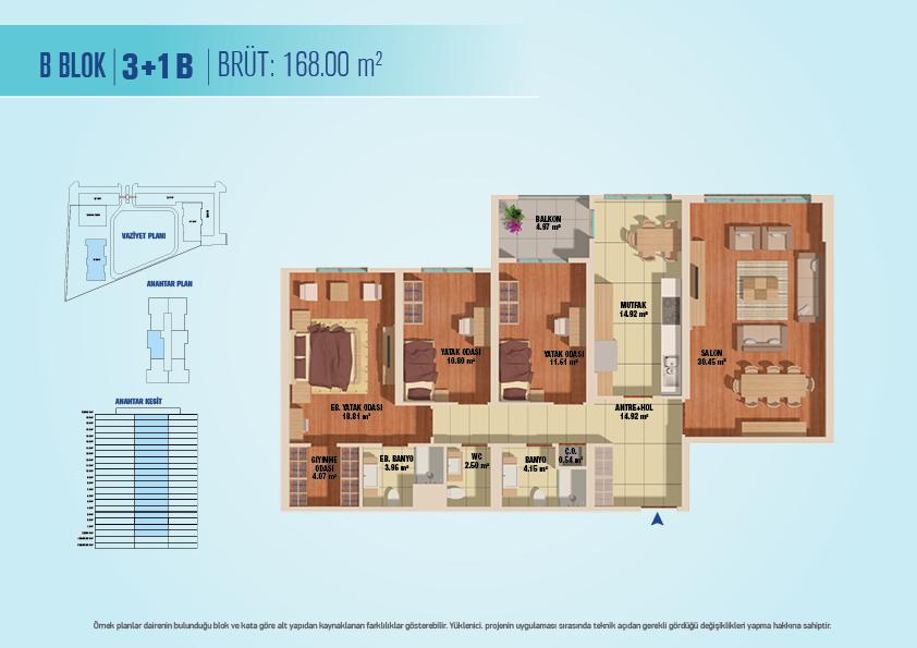 Bizim Evler 8  3+1  Kat Planları