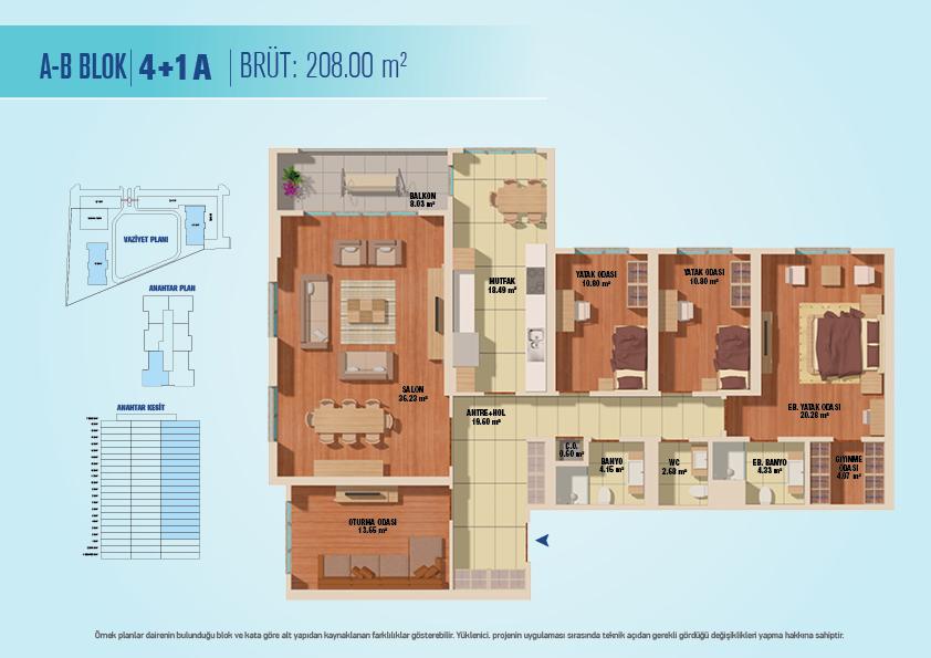 Bizim Evler 8  4+1 Kat Planları