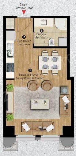 Residence Inn Deluxia 1+0 Kat Planları
