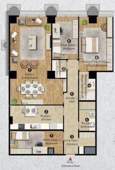 Residence Inn Deluxia 3+1 Kat Planları