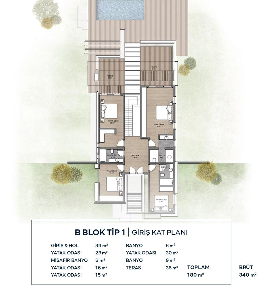 Seba Küçükbük Evleri Villa Kat Planları