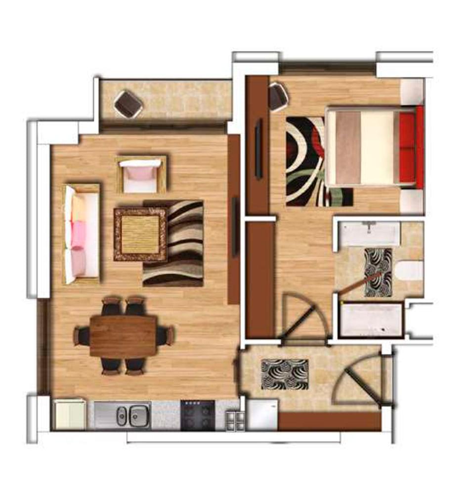 Şehr-i Ala Residence 1+1 Kat Planları