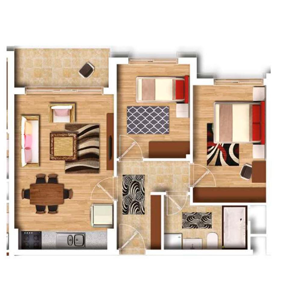 Şehr-i Ala Residence 2+1 Kat Planları