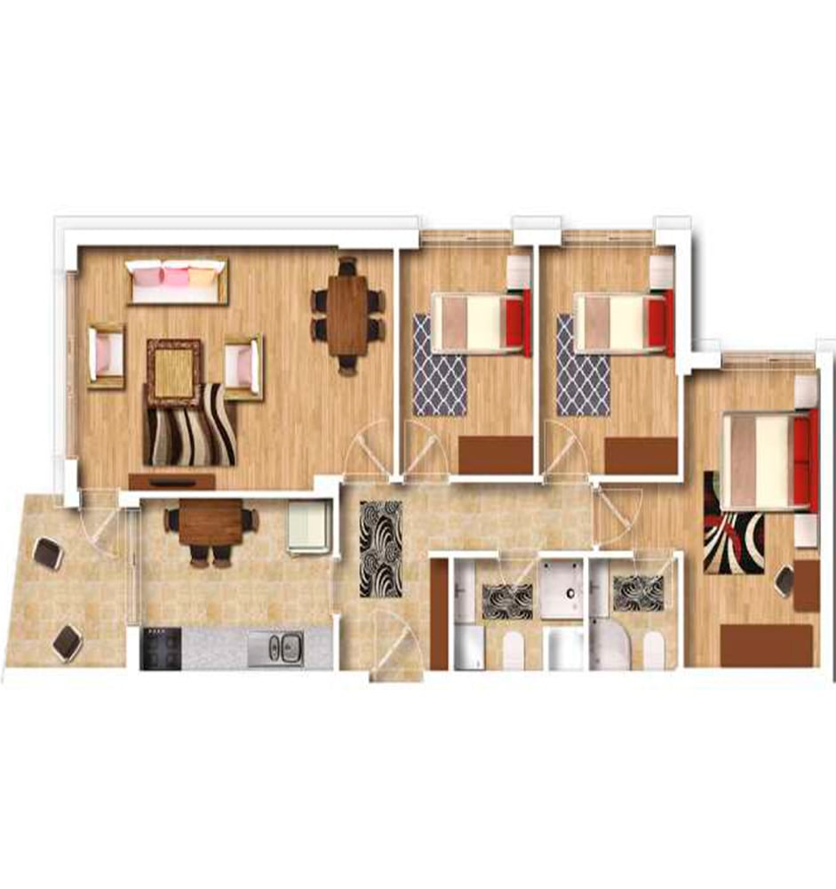 Şehr-i Ala Residence 3+1 Kat Planları