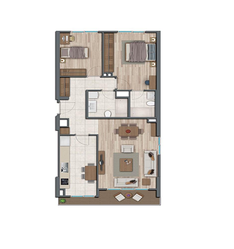 Sur Yapı Topkapı Evleri 2+1 Kat Planları