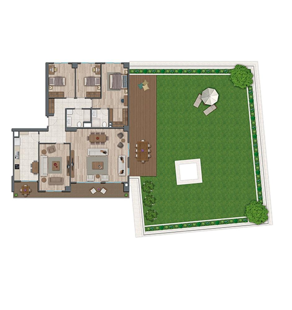 Sur Yapı Topkapı Evleri 4+1 Kat Planları