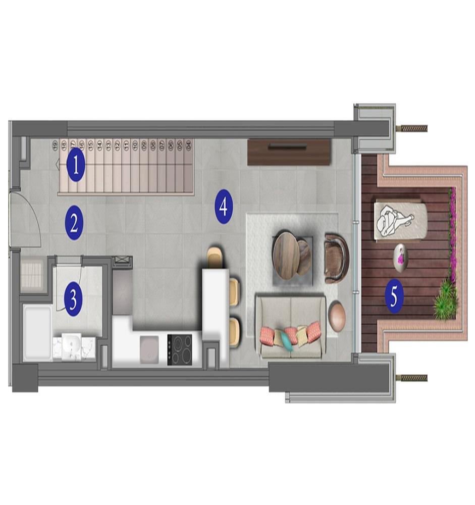Varyap Yalıkavak Residences 2+1 Kat Planları