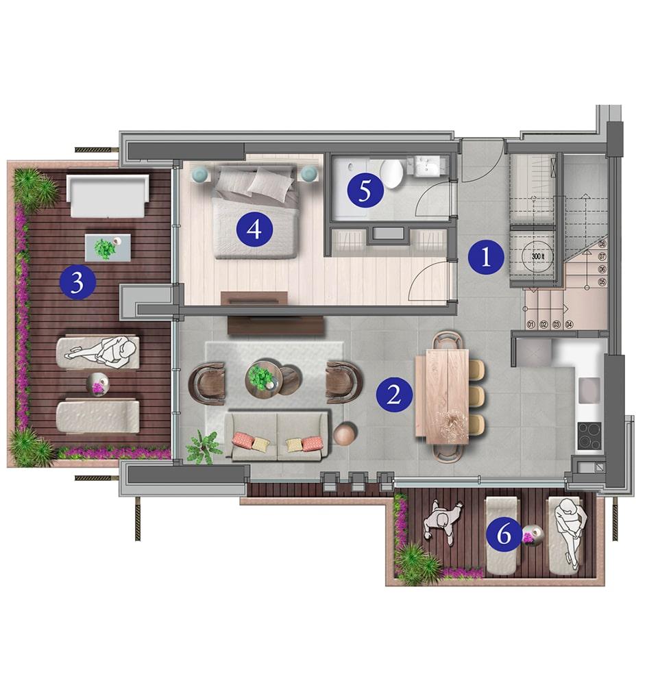 Varyap Yalıkavak Residences 4+1 Kat Planları