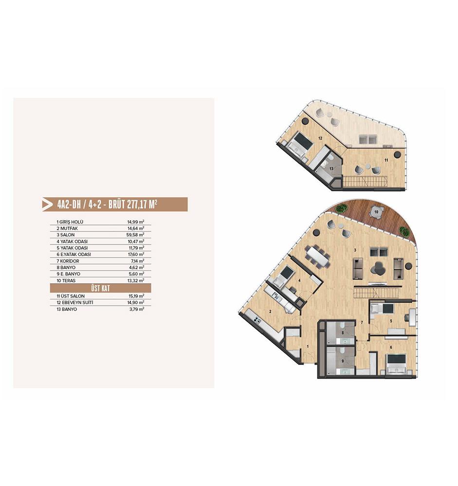 Yenitepe Kadıköy 4+2 Kat Planları