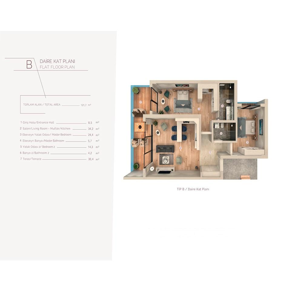 Zen Suites  3+1 Kat Planları